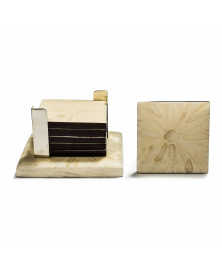 LIGHT ALMENDRO COASTER SET