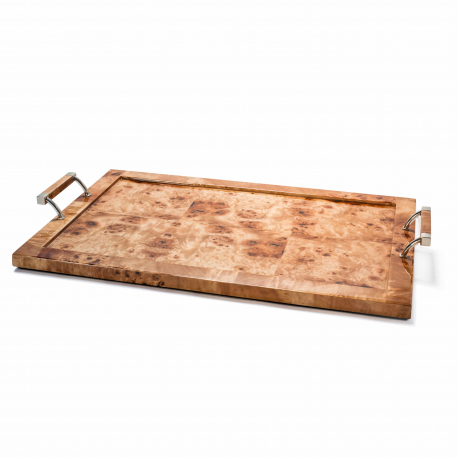 BURL VENEER LARGE TRAY