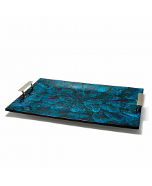 BLUE MOTHER OF PEARL TRAY