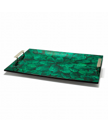 GREEN MOTHER OF PEARL TRAY
