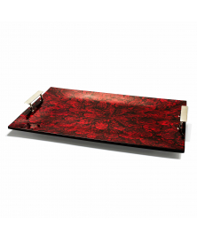 RED MOTHER OF PEARL TRAY