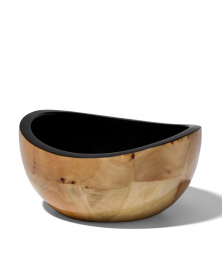 BURL VENEER SMALL BOWL