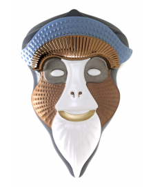 BRAZZA MASK IN LEAD GRAY BY ELENA SALMISTRARO
