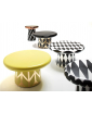 A GROUP OF BLACK AND WHITE T-TABLES AND A YELLOW T-TABLE MAXI BY JAIME HAYON