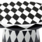 BLACK AND WHITE T-TABLE MAXI BY JAIME HAYON, DIAMOND PATTERN