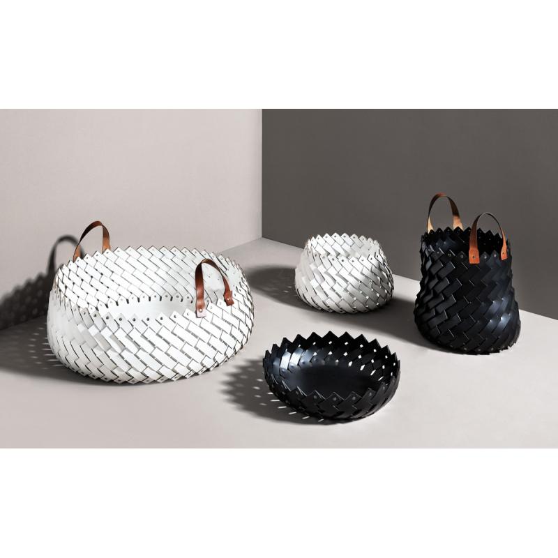 Short Large Basket with Handels