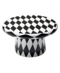 BLACK AND WHITE DIAMOND PATTERN T-TABLE MAXI BY JAIME HAYON