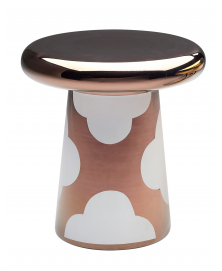 WHITE AND COPPER T-TABLE D4 DESIGNED BY JAIME HAYON