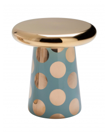 T-TABLE DOTS Vintage Green & Gold
