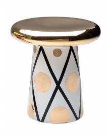 WHITE AND GOLD T-TABLE D6 WITH THIN BLACK LINES
