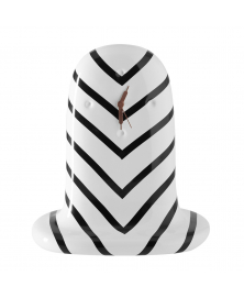 FANTASMIKO TABLE CLOCK STRIPES B&W