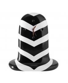 JAIME HAYON FANTASMIKO TABLE CLOCK WITH THICK BLACK AND WHITE  STRIPES