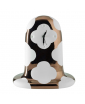 FANTASMIKO TABLE CLOCK BY JAIME HAYON,  WHITE AND COPPER