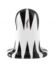 JAIME HAYON FANTASMIKO TABLE CLOCK, BLACK AND WHITE  DIAMOND PATTERN