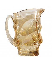 SIX AMBER & GOLD PITCHER