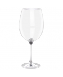 GIRA E RIGIRA SWIRLING WINE GLASS 85 IN SILVER FINISH