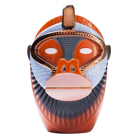 KANDTI VASE KHAKI ORANGE