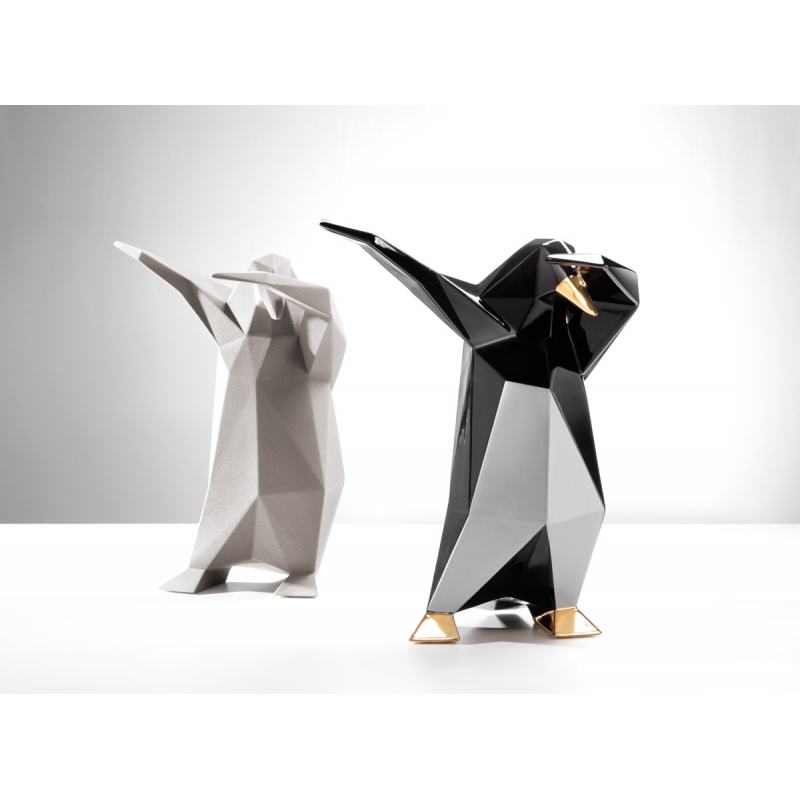 GLOSSY GOLD DAB PENGUIN SCULPTURE BY VITTORIO GENNARI