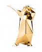 GLOSSY GOLD DAB PENGUIN SCULPTURE BY VITTORIO GENNARI