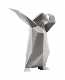 DAB PENGUIN SCULPTURE IN CONCRETE GRAY FINISH