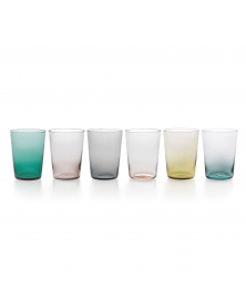 SET OF 6 PURO TUMBLERS ASSORTED COLORS