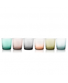 SET OF 6 TORSÉ MULTICOLOR LOWBALL GLASSES