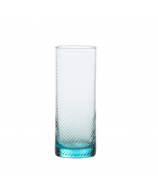 SET OF 6 GRITTI AQUA SKY HIGHBALL GLASSES