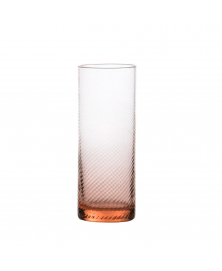 SET OF 6 GRITTI ROSA HIGHBALL GLASSES