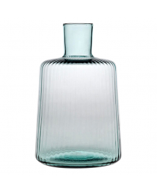 PLISSÉ ACQUAMARINE LAW CARAFE