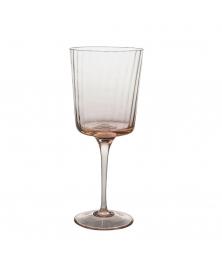 SET OF 4 PLISSÉ ROSA QUARZO WINE GLASSES
