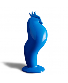 COQART BLUE ROOSTER SCULPTURE
