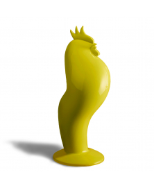 COQART YELLOW ROOSTER SCULPTURE