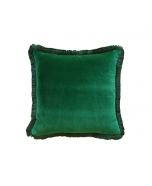 MARABOU EMERALD GREEN VELVET PILLOW