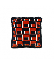 GEOMETRIC PATTERN ACCENT PILLOW