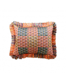 ARANCIO THROW PILLOW WITH FRINGE
