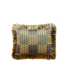 OCHRE TRIBAL INSPIRED FRINGE PILLOW