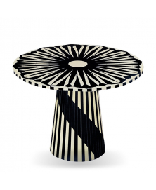 CIRCUS BLACK AND WHITE SIDE TABLE