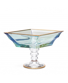 LIGHT GREEN LOZENGE BOWL STAND