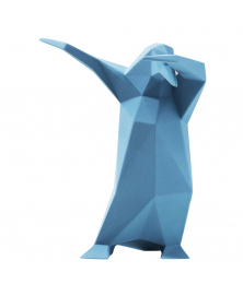 DAB PENGUIN SCULPTURE IN ROUGH BLUE JEANS FINISH
