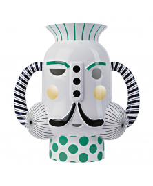 THEATREHAYON KING VASE WITH IN WHITE GREEN POLKA DOTS