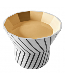 JOYA TABLE WITH THIN BLACK LINES ON WHITE AND GOLD TOP