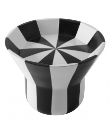 BLACK AND WHITE  STRIPED JOYA TABLE BY JAIME HAYON