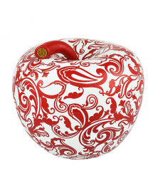 EVA RED AND WHITE APPLE OF DESIRE WITH FLORAL PATTERN