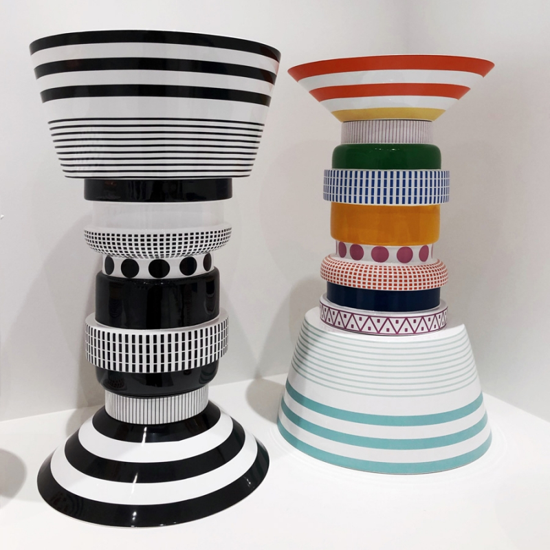 MULTICOLOR AND BLACK AND WHITE GILBERTO SIDE TABLES