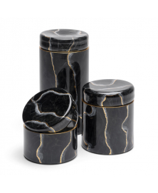 BLACK MARMO GLASS BOXES