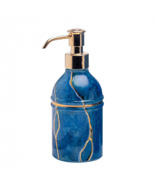BLUE MARMO SOAP DISPENSER