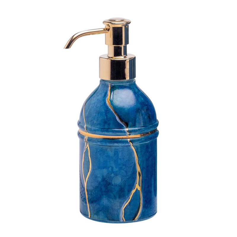 BLUE MARMO SOAP DISPENSER