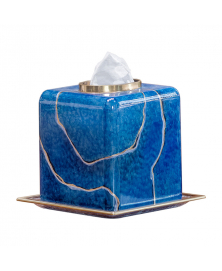 BLUE MARMO KLEENEX COVER