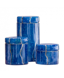 BLUE MARMO GLASS BOXES