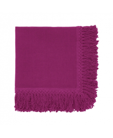Fuchsia Linen Napkin with Long Fringes